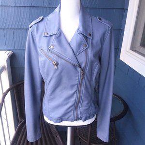 Levi's Faux Leather Periwinkle Blue Moto Jacket L